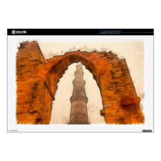 The Qutub Minar in Delhi Decal For Laptop