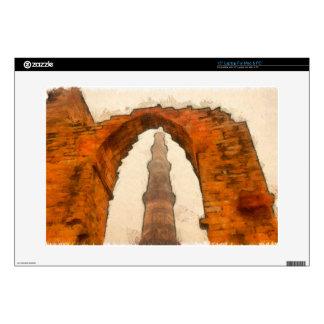"The Qutub Minar in Delhi Decals For 15"" Laptops"