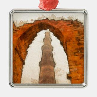The Qutub Minar in Delhi Metal Ornament