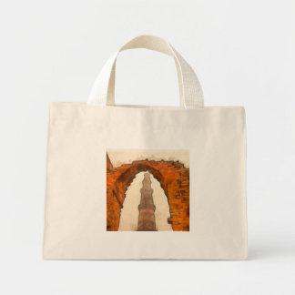 The Qutub Minar in Delhi Mini Tote Bag
