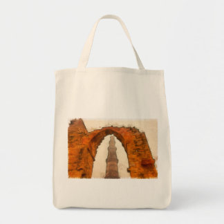 The Qutub Minar in Delhi Tote Bag