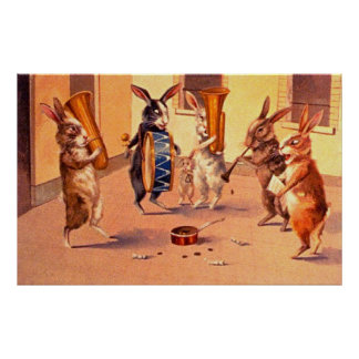 The Rabbit Buskers Poster
