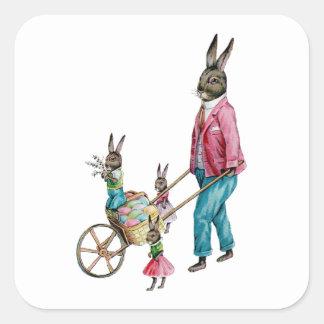 The Rabbit Family Square Sticker