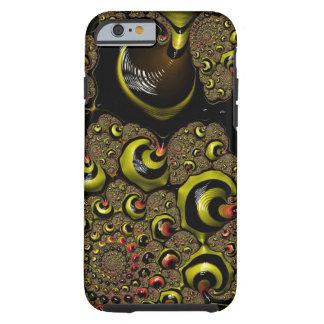 The Rabbit Hole Bumble Bee Yellow Black Fractal Tough iPhone 6 Case