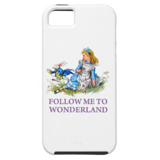 "The Rabbit Passes Alice ""Follow me To Wonderland"" iPhone SE/5/5s Case"