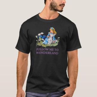 "The Rabbit Passes Alice ""Follow me To Wonderland"" T-Shirt"