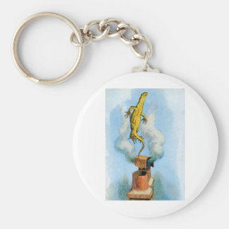 THE RABBIT SENDS IN A LITTLE BILL THE LIZARD BASIC ROUND BUTTON KEYCHAIN