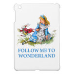 """The Rabbit tells Alice, """"Follow me to Wonderland"""" Cover For The iPad Mini"""