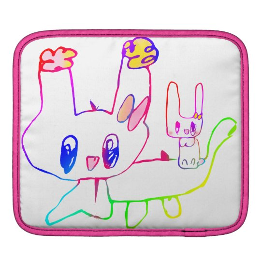 The rabbit the child draws sleeve for iPads
