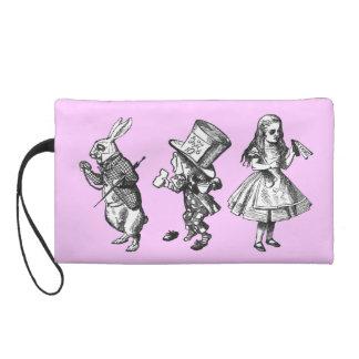 The Rabbit, the Hatter & Alice Bagettes Bag Wristlet Clutch