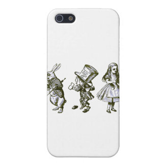The Rabbit, the Hatter & Alice from Wonderland Cover For iPhone SE/5/5s