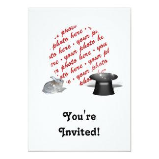 The Rabbit & the Magic Hat Photo Frame 5x7 Paper Invitation Card