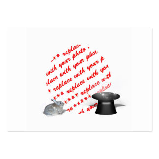 The Rabbit & the Magic Hat Photo Frame Large Business Cards (Pack Of 100)