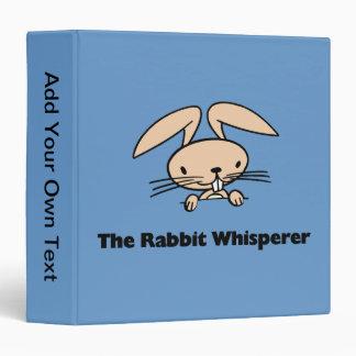 The Rabbit Whisperer Avery Binder Binder