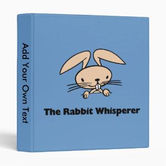 The Rabbit Whisperer Avery Binder Vinyl Binder