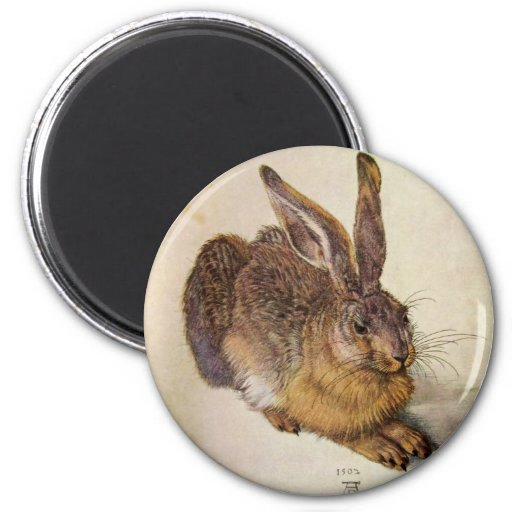 THE RABBIT ( Young Hare ) 2 Inch Round Magnet