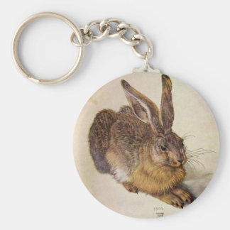 THE RABBIT ( Young Hare ) Basic Round Button Keychain
