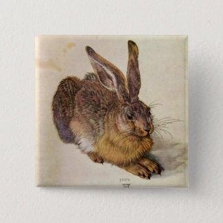 THE RABBIT ( Young Hare ) Button