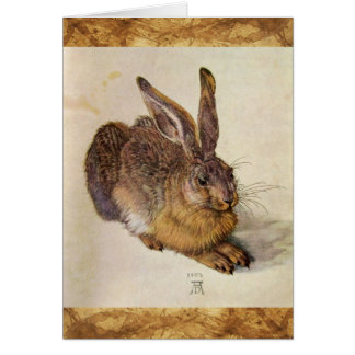 THE RABBIT ( Young Hare ) Card