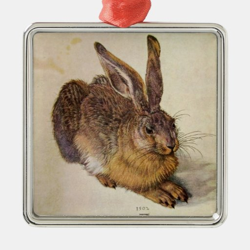 THE RABBIT ( Young Hare ) Christmas Tree Ornaments