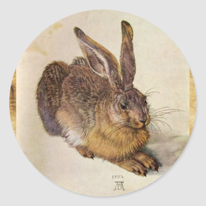 THE RABBIT ( Young Hare ) Classic Round Sticker