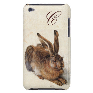 THE RABBIT ( Young Hare )  Monogram Barely There iPod Cover