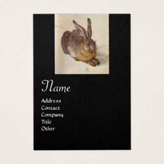THE RABBIT ( Young Hare ) Monogram ,black and gold Business Card