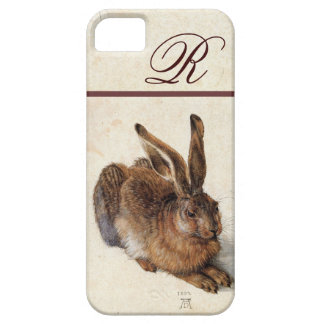 THE RABBIT ( Young Hare )  Monogram iPhone SE/5/5s Case