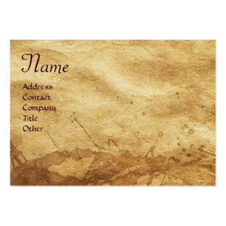 THE RABBIT ( young hare)  Monogram Large Business Card