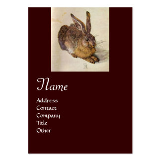 THE RABBIT ( Young Hare ) Monogram Large Business Cards (Pack Of 100)