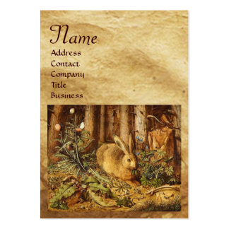 THE RABBIT ( young hare)  Monogram Large Business Cards (Pack Of 100)