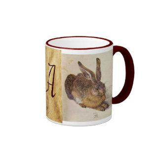 THE RABBIT Young Hare Monogram Coffee Mug