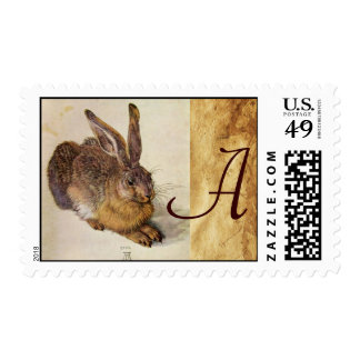 THE RABBIT ( Young Hare ) Monogram Postage Stamp