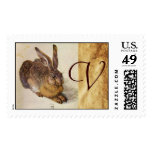 THE RABBIT ( Young Hare ) Monogram Stamp