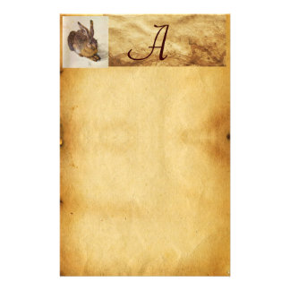 THE RABBIT ( Young Hare ) Monogram Stationery
