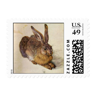 THE RABBIT ( Young Hare ) Postage Stamp