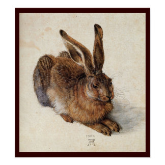 THE RABBIT ( Young Hare ) Poster