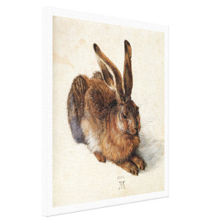 THE RABBIT ( Young Hare ),white Canvas Print