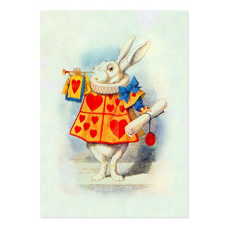 The Rabbitt in Alice in Wonderland ~ Business Card