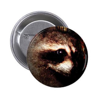 The Raccoon Pinback Button