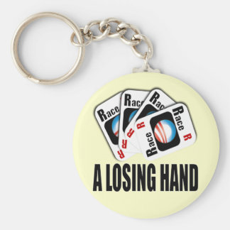 The Race Card - A losing hand Basic Round Button Keychain
