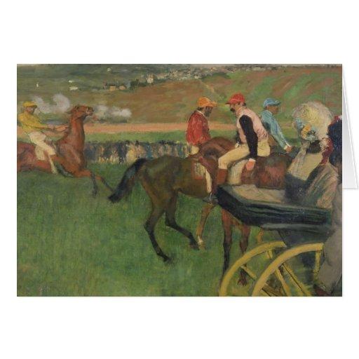 The Race Course - Amateur Jockeys Greeting Cards