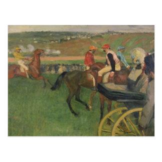 The Race Course - Amateur Jockeys Postcards