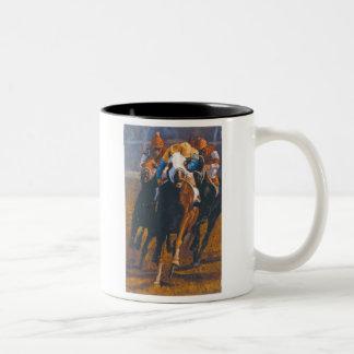 the race high res Two-Tone coffee mug