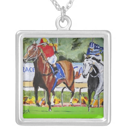 The Race is On Personalized Necklace