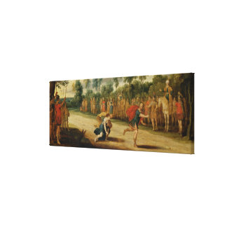 The Race of Atalanta and Hippomenes (oil on panel) Gallery Wrap Canvas