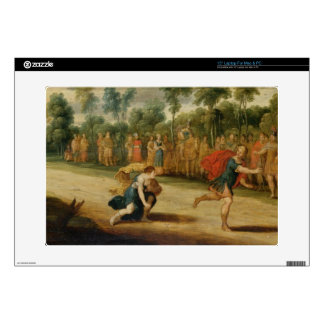 The Race of Atalanta and Hippomenes (oil on panel) Decal For Laptop