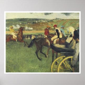 The Race Track, Amateur Jockeys near a Carriage Posters