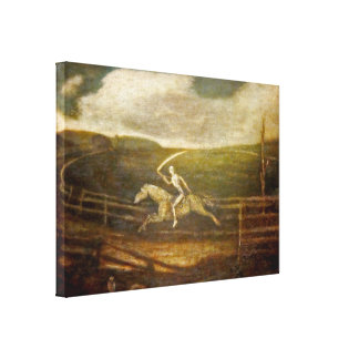 The Race Track - Death of on Pale Horse - by Ryder Canvas Print