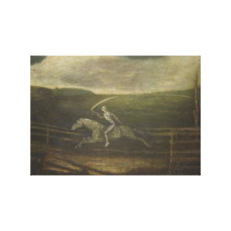 The Race Track Or Death On A Pale Horse Canvas Print